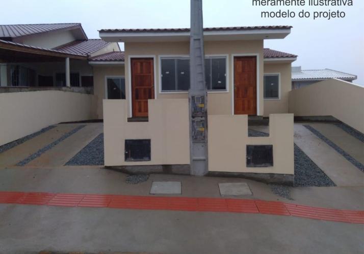 Casa Geminada 02 com 02 Dormitórios no Loteamento Parque Vale Verde em Palhoça - SC